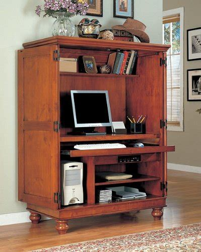 Cheap & Discount Computer Armoire Furniture Louvered