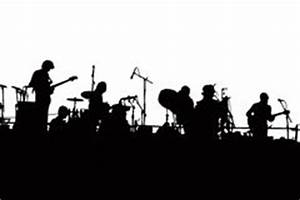 Rock Band Silhouette stock image. Image of arts, dark ...