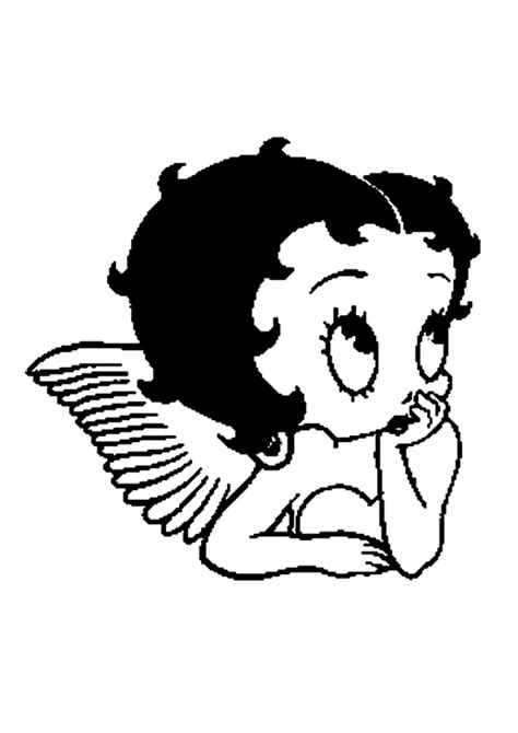 Pin by James Spada on Stitch | Betty boop tattoos, Betty boop, Coloring pages