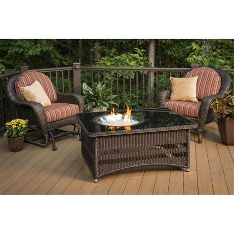 outdoor gas fireplace table shop outdoor greatroom company naples 48 in w 60 000 btu