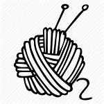 Knitting Yarn Ball Hand Icon Drawing Hobby