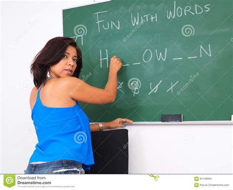 Fun With Words On Chalk Board Stock Photo  Image 61149064