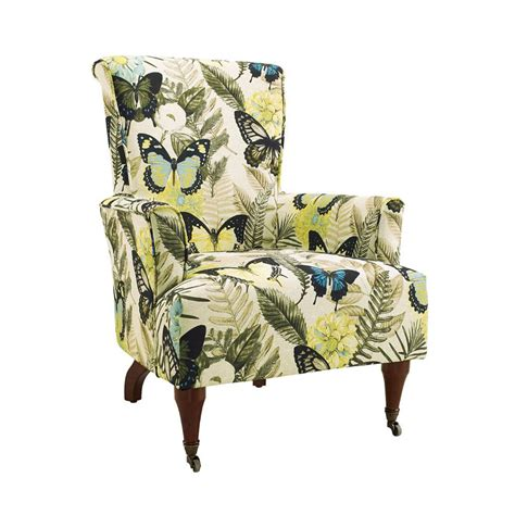 linon home decor junnell botanical print polyester arm