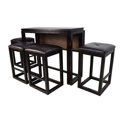 dining table with stools 45 off counter height extendable dining table with