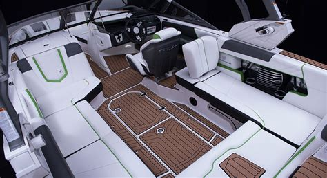 Ski Boat Interior Design by Air Nautique G23 Sports Boat The Discovery