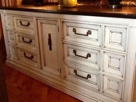 vintage thomasville dresser painted antique white glazed