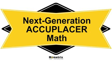 Free Next-Generation ACCUPLACER Math Study Guide - YouTube