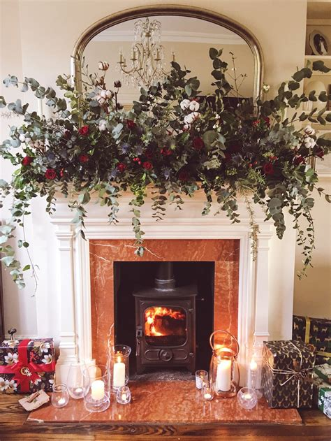 my home at how to make this fireplace garland