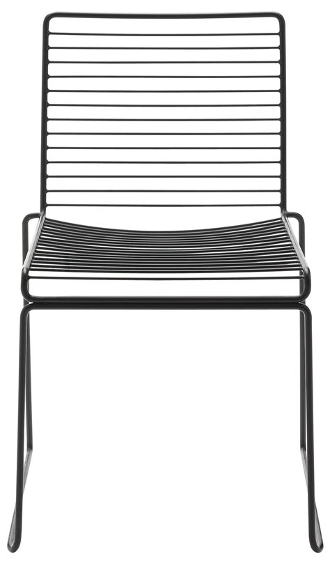 chaise metal noir hee stacking chair metal black by hay