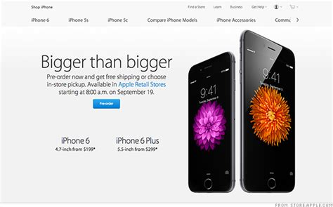 iphone 6 in stores iphone 6 pre orders crash apple and iphone 6 plus 1379