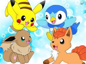 Pokemon Pikachu and Eevee Friends
