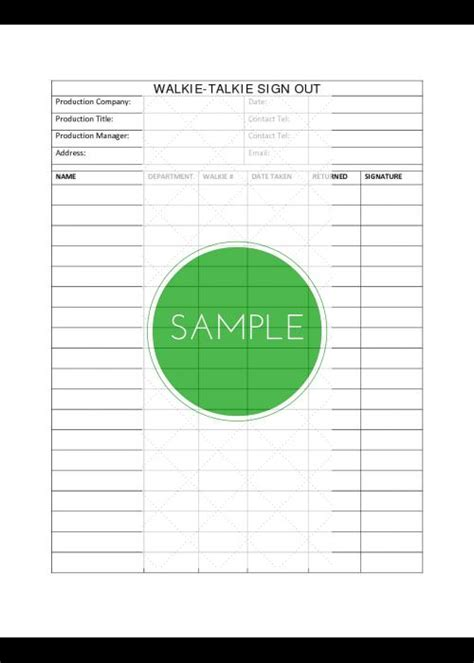 professional film production forms