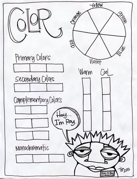 color theory worksheet color theory worksheet featuring roy g biv preschool