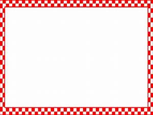 Red And White Border Clipart