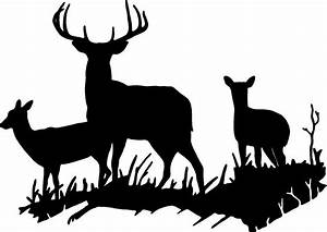 deer buck doe deer family wall decal home decor large With awesome deer decals for walls