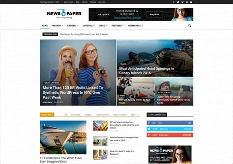 Word Press News Themes 35 Creative Magazine News Themes 2016