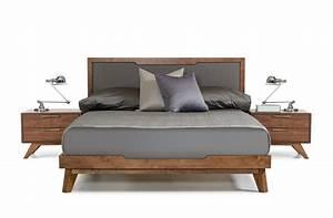 Nova Domus Soria Mid Century Grey Walnut Bed Modern