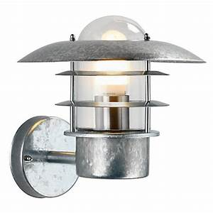 ufo garden wall light galvanised steel at homebase With homebase outdoor lighting sale