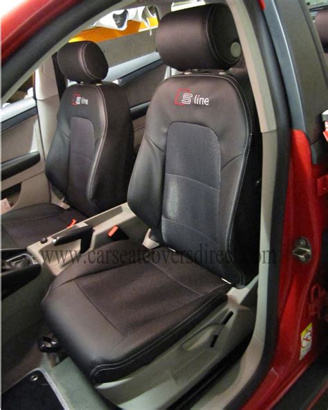 audi  seat covers black