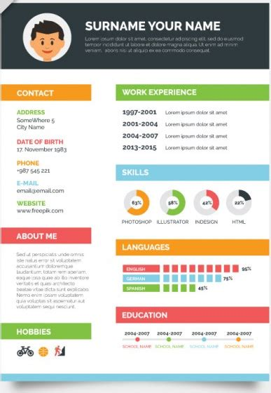 Colorful Resume Templates by 35 Free Creative Resume Cv Templates Xdesigns