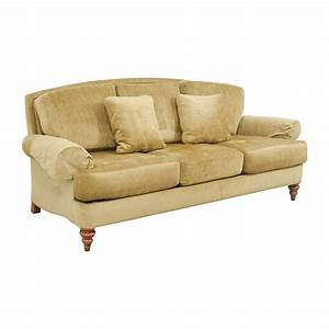 90 off ethan allen ethan allen hyde gold three cushion With ethan allen sofa bed sale