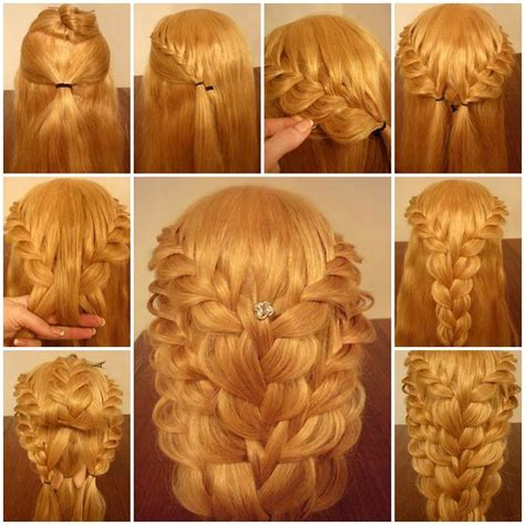 diy delicate braided hairstyle