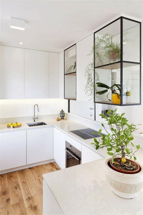plante cuisine decoration cuisine en u idéale pour les espaces ouverts