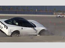 Chevy Corvette Kisses The Curb At An Autocross Event