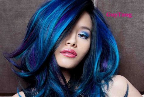 Guy Tang Turquoise Blue Purple Ombre Hair Hair
