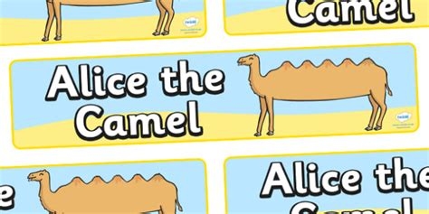 Alice The Camel Display Banner  Alice The Camel, Nursery. Cow Head Decals. Swimming Pool Murals. Shipping Label Printer. Greenery Murals. Different Car Signs. Rogue Logo. Vessel Signs. Fine Art Murals