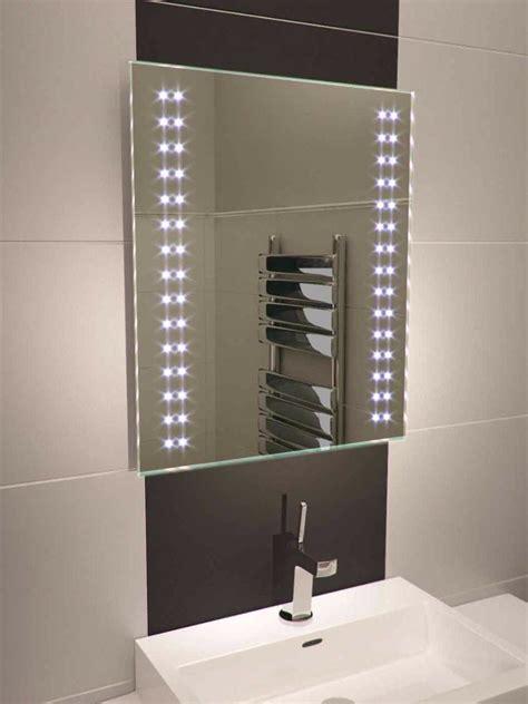 bathroom mirrors with lights led bathroom mirror 380 illuminated bathroom 24071