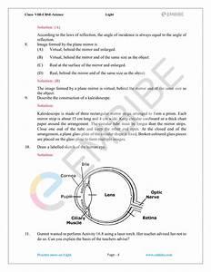Human Eye Diagram Class 8