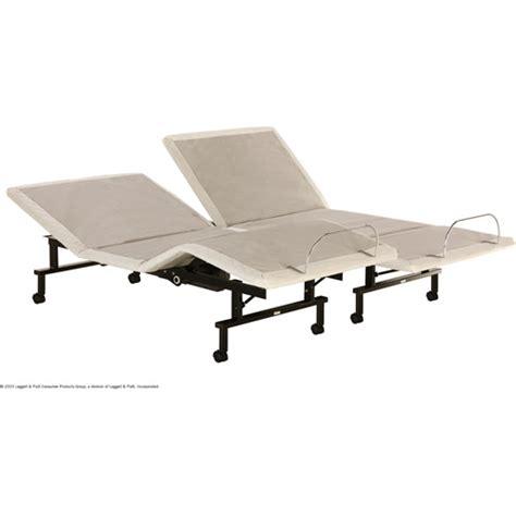 adjustable split bed shipshape adjustable bed frame split king walmart