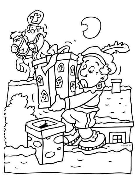 Kleurplaat Zwarte Piet Op Het Dak by Www Kleurplaten Nl Voor Iedereen Die Graag Kleurt Is