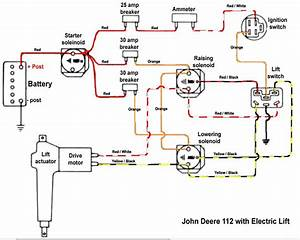 Wiring Diagram For Deere 112 Series Number307908m