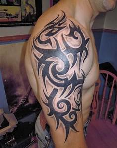 Cool Shoulder Tribal Tattoos for Guys | Tattoos for Men