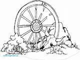 Wagon Wheel Template Coloring Drawing Sketch sketch template