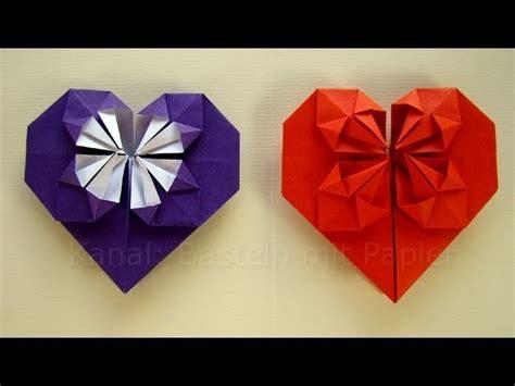 origami herz falten basteln mit papier geschenkideen diy