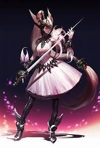 Wallpaper, Anime, Girl, Long, Hair, Sword, Dress