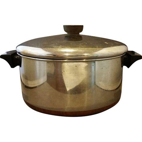 vintage revere ware   qt dutch oven  cookware
