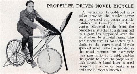 Propeller Drives Novel Bicycle