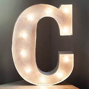 Vintage marquee letter h more h for me for Where can i buy metal letters