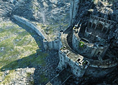 lord   rings  helms deep destory bridges