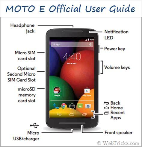 moto e user guide in