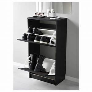 Armoire Chaussures Ikea : bissa armoire chaussures 2 casiers noir brun 49x93 cm ikea ~ Teatrodelosmanantiales.com Idées de Décoration