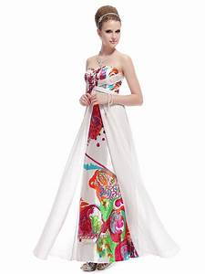 white long floral printed dressstrapless floral maxi With long floral dress for wedding