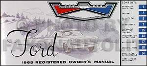 1965 Ford Galaxie  U0026 Ltd Wiring Diagram Manual Reprint