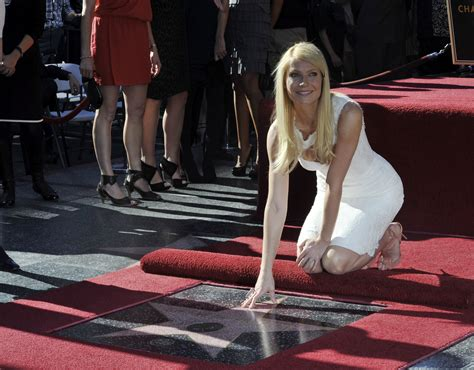Crystal Carpets by Gwyneth Paltrow Gets Honored With A Star In The Hollywood