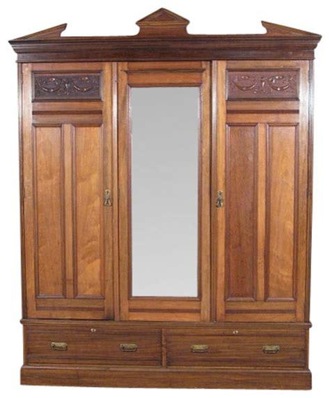 Wooden Wardrobe With Mirror by Wardrobe Closet Wardrobe Closet Wood Antique Dressers