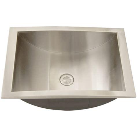 overmount stainless steel sink ticor s740 overmount stainless steel bathroom sink